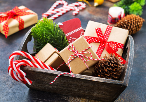 christmas background, christmas decoration on a table, stock photo